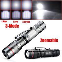 Q5 LED 2000 Lumen Lamp Clip Mini Zoomable Penlight Flashlight Torch Light Lamp
