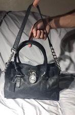 ❤️$298 Michael Kors Hamilton Saffiano Leather EW East West Satchel Black LOCK