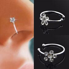 Neu Tragus Helix Ohr Kristall Stecker Piercing Nasenring Septum Ring Opal Mode