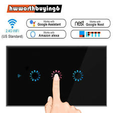 Home for US Gang 1/2/3 Panel APP Light Switch Smart Wall WiFi Alexa/Google Touch
