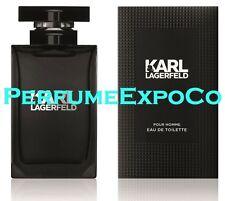 KARL LAGERFELD COLOGNE BLACK Pour Homme Men/Man 4.5ml-.15oz EDT Splash MINI (C18