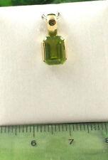 Sassi 04-1940-51 Ladies 9ct 375 Yellow Gold Emerald Cut Peridot Stud Pendant