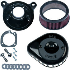 S&S Cycle Twin Cam Black Mini Teardrop Stealth Air Cleaner 2001-17 Harleys