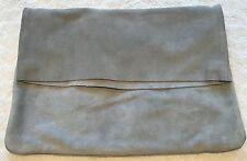 PERCHE 'in pelle scamosciata FOLDOVER Bag