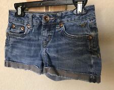 Justice Girls Blue Denim Shorts Size 10s