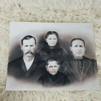 Vintage Reproduction Copy of Victorian Family Creepy Black & White 8 x 10