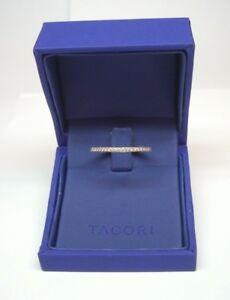 TACORI PLATINUM SCULPTED CRESCENT DIAMOND ETERNITY BAND #41-1.5ET .50CTTW $3,280