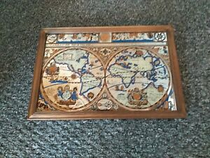 Vintage World Atlas Mirror original.