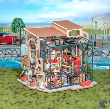 Robotime Miniature Dollhouse Wooden DIY House Kit Gift (EMILY'S FLOWER SHOP)