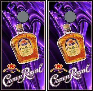 Crown Royal Purple 0180 custom cornhole board vinyl wraps stickers posters skins