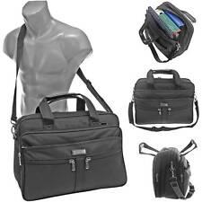 Messenger Bag Umhängetasche Aktentasche Herren Tasche Arbeit Schule Büro Schwarz