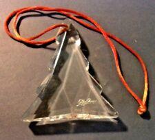 """Oleg Cassini Etched Signature Crystal Tree Ornament 2.75"""""""