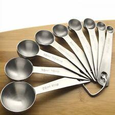 9Pcs Portable Measuring Spoon Set Baking Seasoning Cooking Kitchen Tool