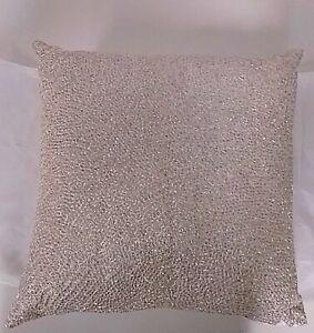 "Hudson Park Collection Piano Wire Decorative Pillow (Beige, 18"" x 18"")"