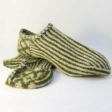 Russian Men's wool Socks knitting Slippers Hand Knitted #29