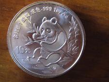 CHINA PANDA COIN - 10 YUAN - 1991 - 1OZ AG - SILVER COIN - 40 mm - MONETA