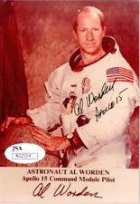 Al Worden Apollo 15 Signed 4x5 Nasa Photo with JSA
