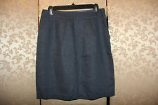 Anthropologie Tabitha Blue Running Yoke Linen Cotton Wear to Work Skirt 6