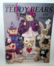 Teddy Bears Dressed Clothes Frances Brown Costumes Parade Holidays Angel Bride