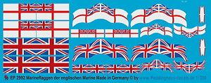 Peddinghaus 2992 1/350 Marineflaggen der englischen Marine