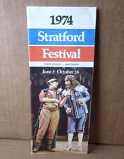 STRATFORD FESTIVAL schedule Love's Labour's Lost 1974 Walsh theater Shakespeare