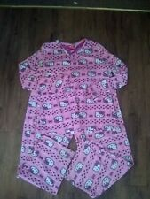A48 Hello Kitty Women's Large 12 14 Pink Flannel Pajamas Pullover Top GUC
