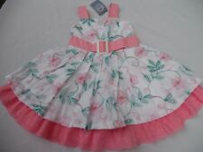 Girl's Pretty Pumpkin Patch Multi Colour Embroidery  Dress Size 6    NWT