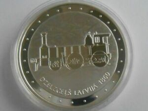 Latvia Latvijas 1 Lat 2011 Train  Silver 22 gr  Proof