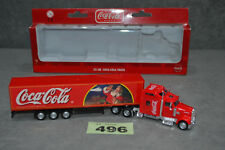 """23cm 9"""" Kenworth Coca Cola Christmas Truck Holidays Are Coming Santa Scale 1:78"""