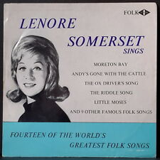 LEONORE SOMERSET - 14 OF THE WORLD'S GREATEST FOLK SONGS '60'S AUSSIE W&G RARE!