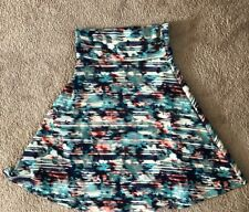 LulaRoe Medium Skirt Watercolor Gently Used Cute