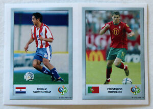 PANINI MINISTICKER RC CRISTIANO RONALDO No. 67, 2-in-1 World Cup Germany 2006