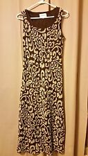 WOMENS Size 8 NWT STUDIO I DRESS SHEATH MAXI OUTFIT XL Brown, Green CAREER  B14