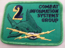 Vintage Military Uniform Patch Navy Combat Information Systems Group Shark #Mtgr