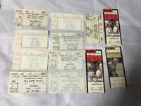 Lot of 12 1980's New Jersey Devils Ticket Stubs