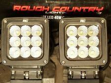 Rough Country 4-inch Square Cree LED Lights Pair 8100 Lumens w/ Cool White