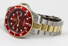 Diver's Quartz Watch 30 Bar WD Solid in FERARI RED NEW Series XXL Large 45mm