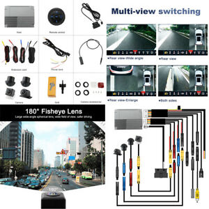 Car DVR Rear View Camera Recording Parking System 3D 360°Panoramic Bird View SET