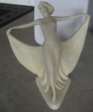 """Unique Vintage Orlandi Statuary Dancing Woman Statue 13"""" Tall LOOK"""