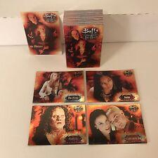 "BUFFY THE VAMPIRE SLAYER ""BIG BADS"" 2004 Complete ALL-FOIL CARD SET w/ PROMO P1"