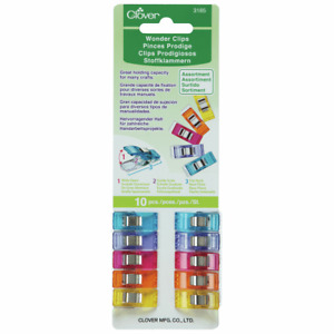 Wonder Clips Quilt Clips Assortment by Clover (Pack of 10) for sewing, overlocki