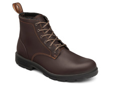 Blundstone 1618 Leather Lace Up Stout Brown-Non Safety
