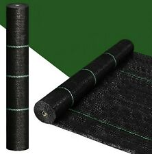 Weed Barrier Control Mat Plastic Woven Fabric Heavy-duty Sturdy for Gardening