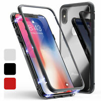 Luxury Magnetic Adsorption Case For iPhone 11 Pro Max XS 6s 8 7 Plus Glass Cover