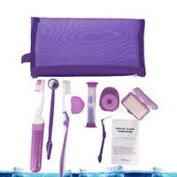 9Pcs Dental Orthodontic Brush Toothbrush Interdental Floss Oral Care Travel Kit