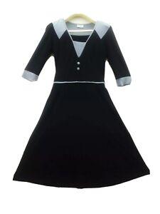Leona Edminston Dress 3/4 Long Sleeved,  Aussie Made,  Designer Dress Size 1