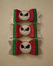 I Nightmare Before Christmas Jack Skeleton Glitter per Capelli con Fiocco