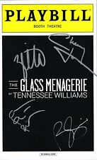 The Glass Menagerie Zachary Quinto Celia Keenan-Bolger CAST SIGNED Playbill COA