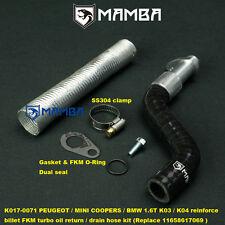 Peugeot EP6DT 207 308 C4 1.6T Reinforce FKM Turbo Oil Drain Return Tube Pipe Kit
