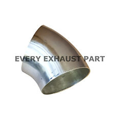 76mm 3 inch 45 degree tight 1D t304 stainless exhaust bend tube polished pipe
